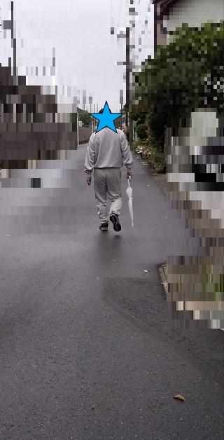今朝の福男 お散歩風景